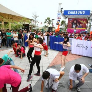 Samsung LMFAO concert performance